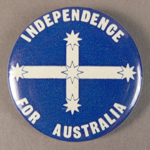 Independence for Australia badge
