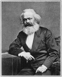 Karl Marx, author of the Communist Manifesto